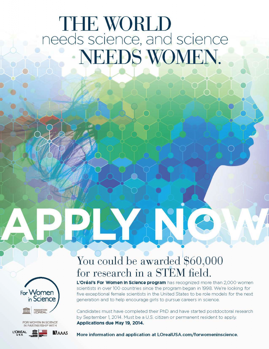 Now Open: Application for L'Oréal USA For Women in Science