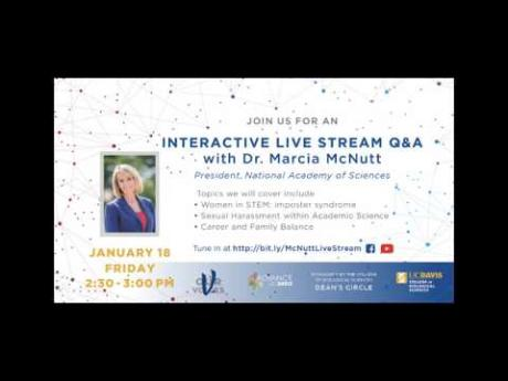 Live Q&A with Dr. Marcia McNutt